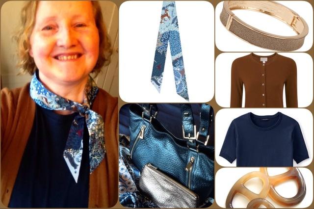Dans un Jardin Anglais twilly - Hermès - collage #01