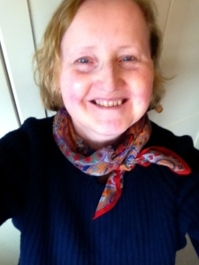 Alternative tie with Accessorize scarf