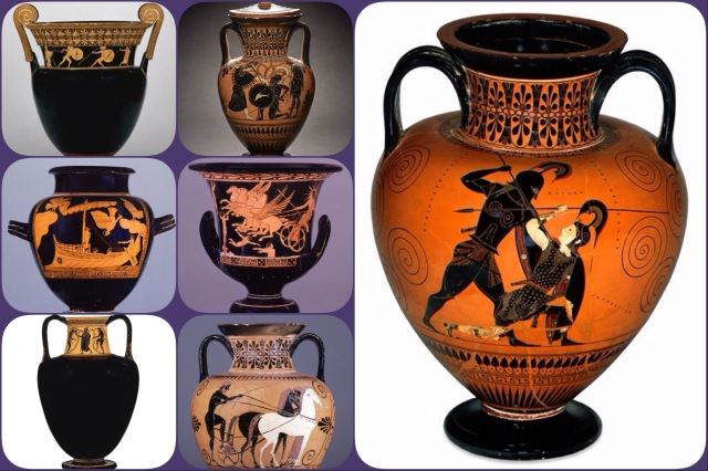 Ancient Greek black and red figure vases (not all in the British Museum)