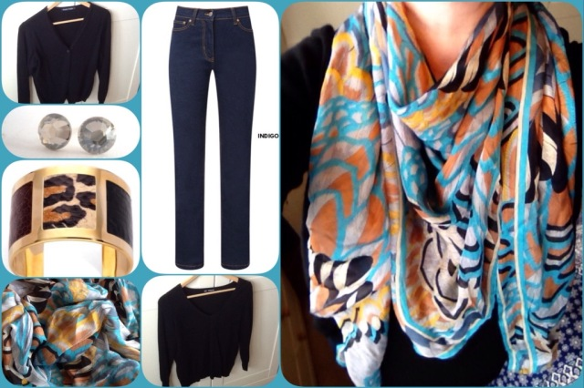 Outfit of the day 28/02/17 with Leonard feather scarf