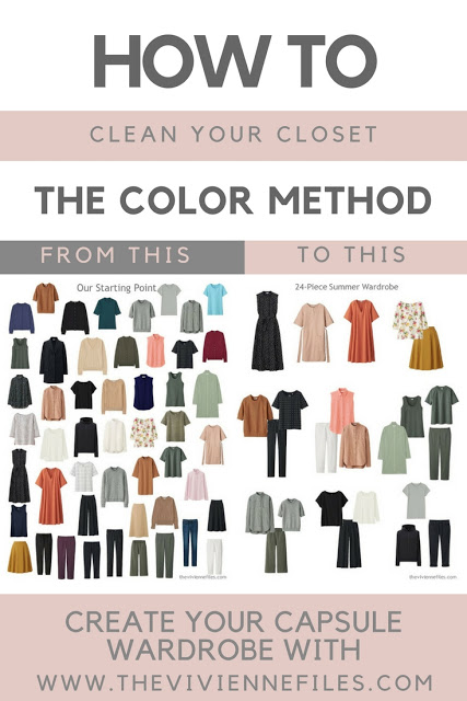 how to clean your closet with the color method