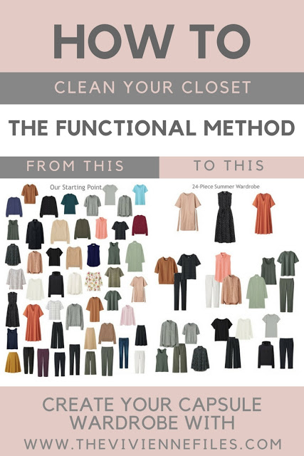 how to clean your closet with the functional method