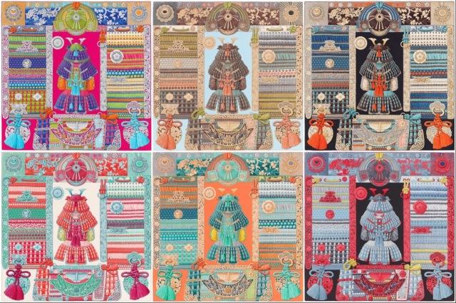 Parures de Samouraïs- Hermès- collage #01
