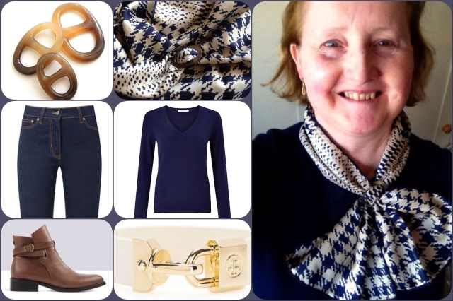 Outfit of the day 07/03/17 with Richard Allan's houndstooth scarf