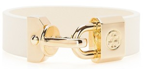White leather and gold bracelet - Tory Burch
