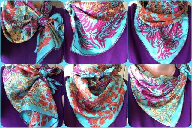 La Promenade de Platon - Hermès - scarf knot collage #02