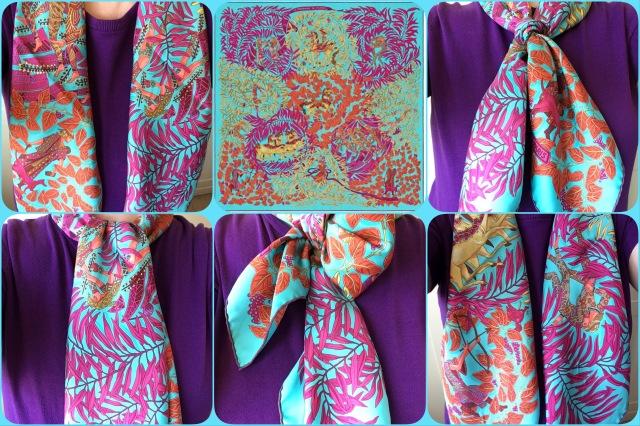 La Promenade de Platon - Hermès - scarf knot collage #01