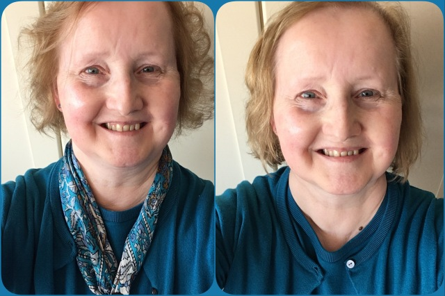 Before and after my visit to the hairdresser