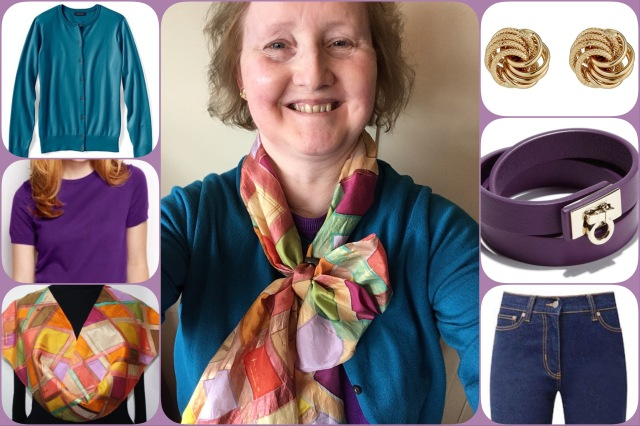 Outfit of the day 12/04/17 with scarf by SilkScarvesColorado
