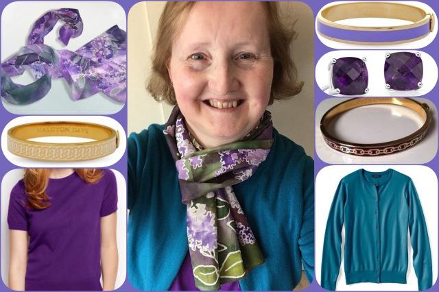 Lilacs scarf - Minkulul - collage #02