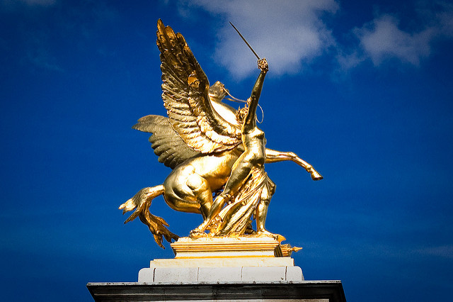 Pegasus on the Pont Alexandre, Paris by Max London on Flickr