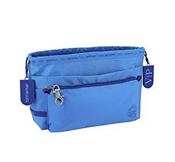 Blue handbag organiser by Tintamar