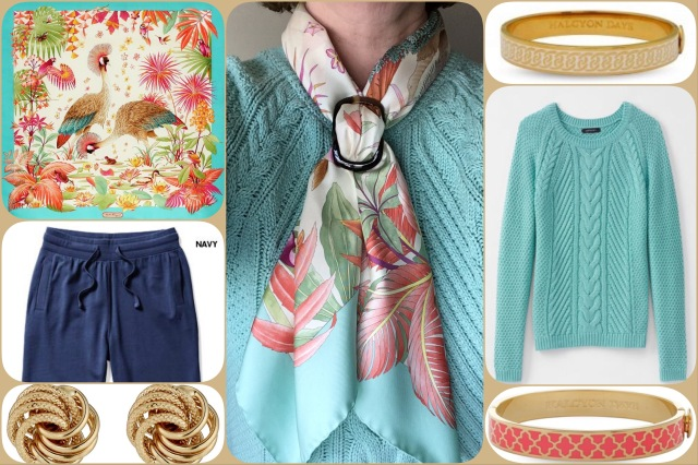 Outfit of the day 02/05/17 with Ferragamo's Peacocks in the Jungle