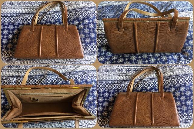 Tan llizard skin handbag - Fassbender - collage #01