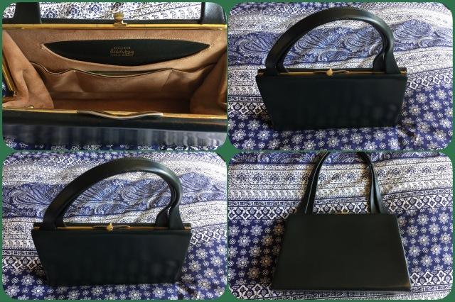 Green leather handbag - Waldybag - collage #01