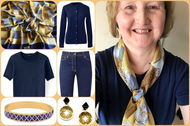 Outfit of the day 16/05/17 with Ferragamo scarf