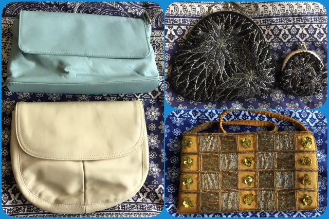 Small shoulder bags and evening bags.