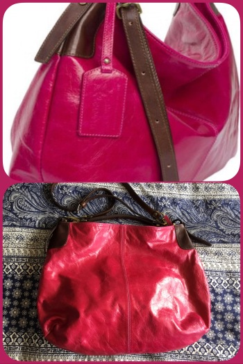 Mariella in fuchsia and brown leather by Peony and Moore