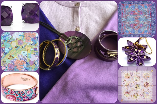 Accessories in shades of purple
