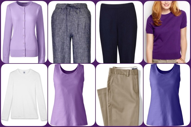 Trousers, tops and t-shirts.