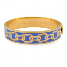 Bluebell enamel and gold chain bangle - Halcyon Days