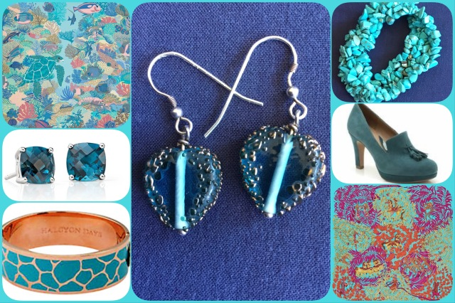 Accessories in shades of turquoise