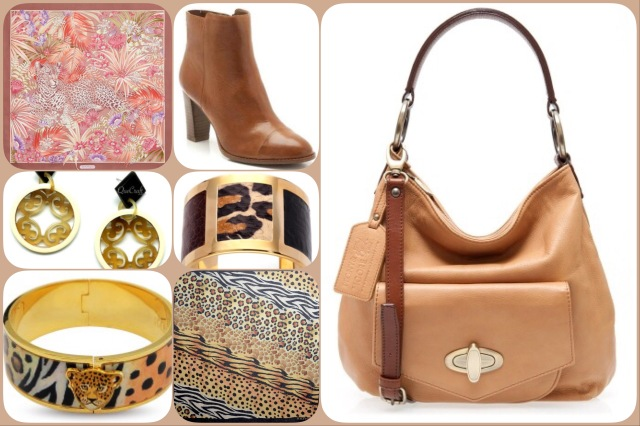Accessories in shades of brown
