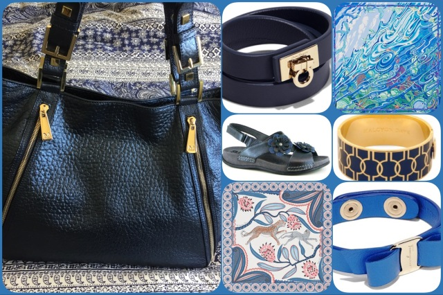 Accessories in shades of blue