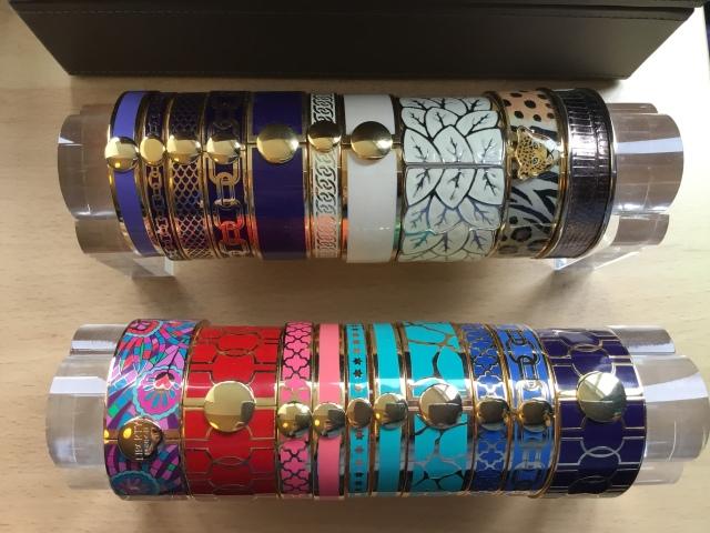 Enamel bangle collection