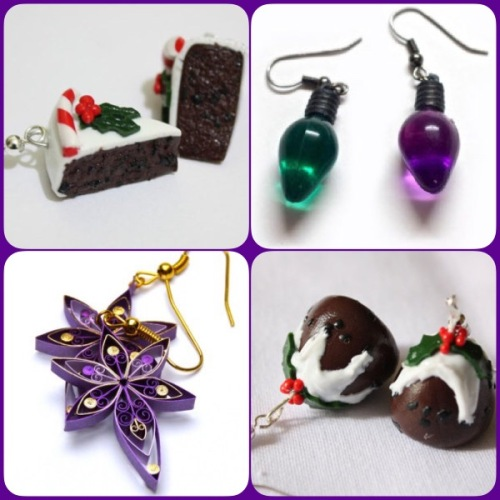 Christmas earrings - Etsy