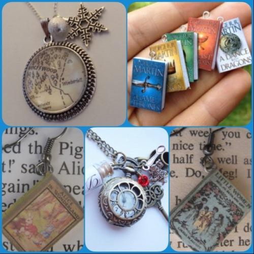 Book jewellery - Etsy