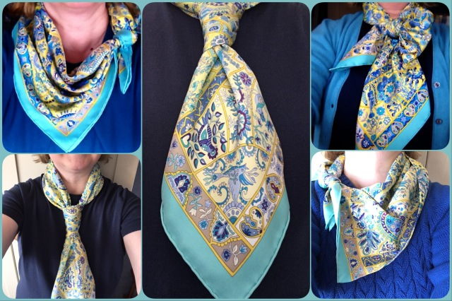 Au Pays des Oiseaux Fleurs in a range of scarf ties