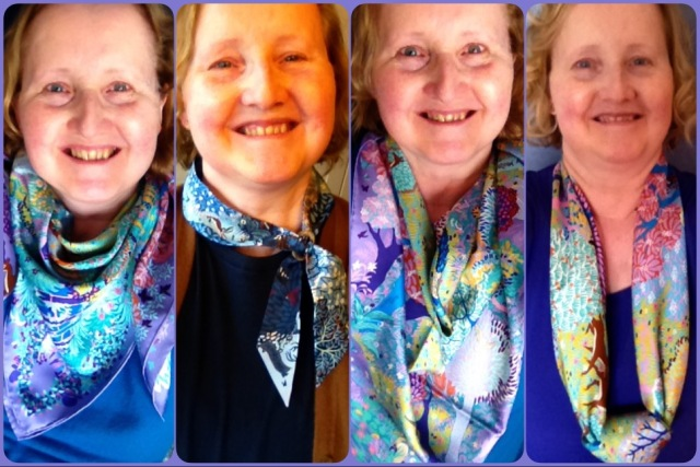 Dans un Jardin Anglais in a range of scarf ties.