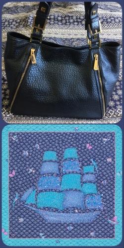 Massaccesi handbag and Hermès' Bateau Fleuri gavroche