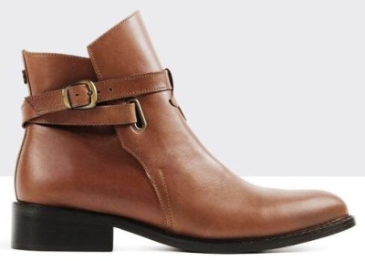 Tan ankle boots by Ted and Muffy