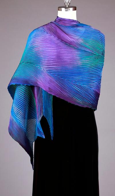 Shibori shawl - Cathayana