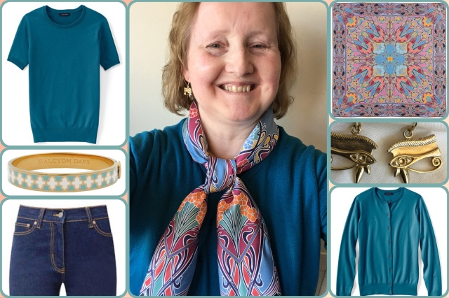 Outfit of the day 22/09/17 with Liberty's Ianthe scarf