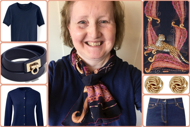 Outfit of the day 02/10/17 with Ferragamo Leopard and Feather scarf