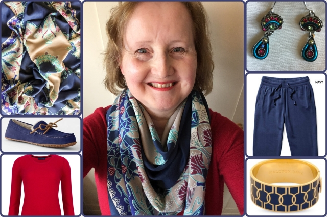 Outfit of the day 09/10/17 with Liberty's Ianthe varuna wool shawl
