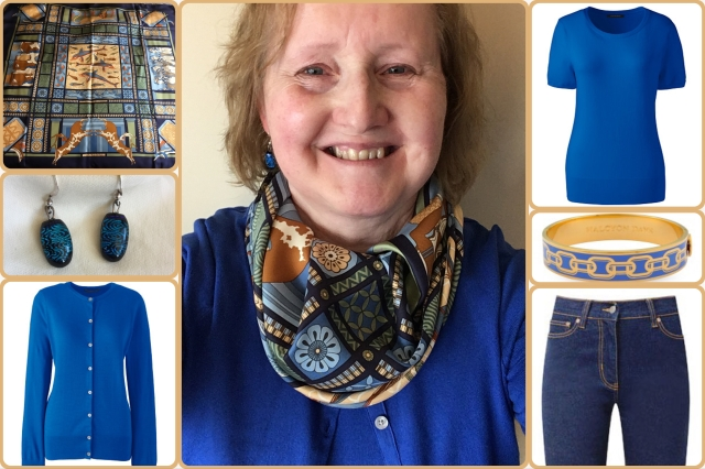 Outfit of the day 27/10/17 with Hermès' Les Secrets de Minos scarf.
