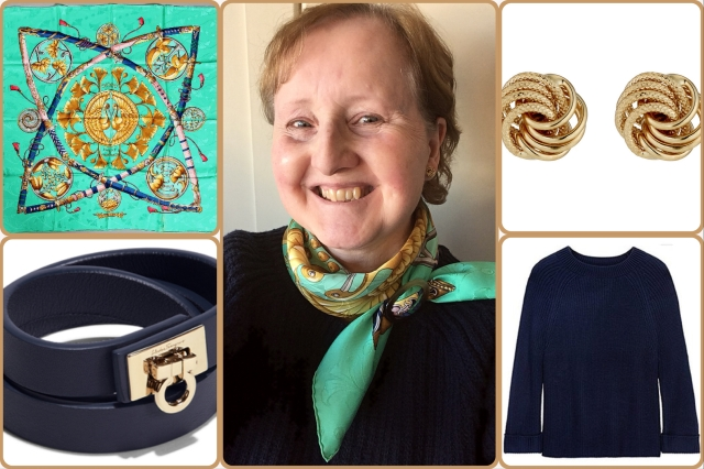 Outfit of the day 30/11/17 with Hermès' Daimyo Princes du Soleil Levant scarf