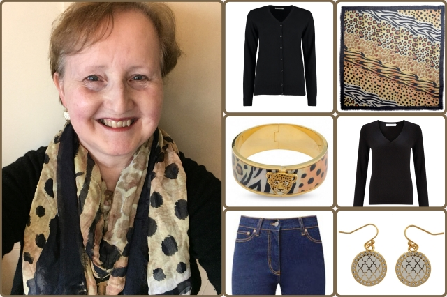 Outfit of the day 17/11/17 with Halcyon Days' animal print scarf