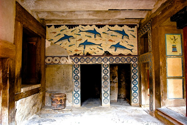 Knossos, Room of Dolphin Fresco by Andy Montgomery on Flickr