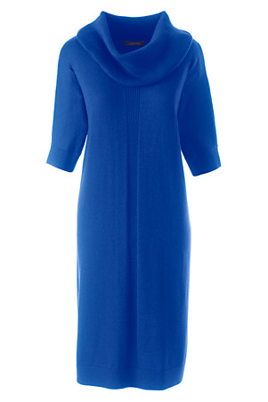 Cobalt merino wool dress - Lands' End