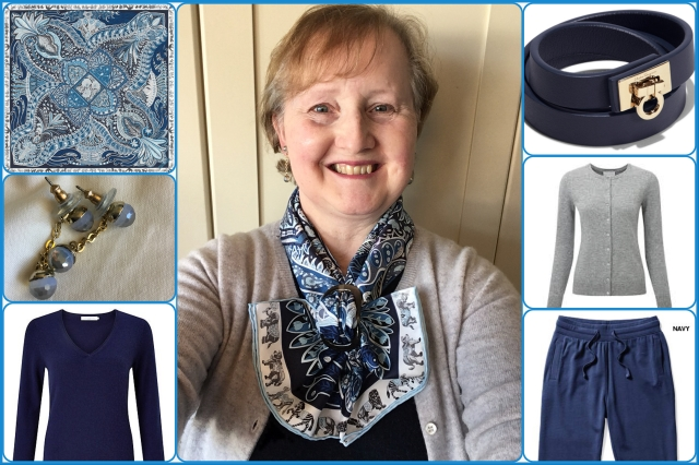 Outfit of the day 25/01/18 with Hermès' Le Jardin de la Maharani scarf