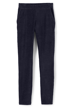 Navy sport knit cord leggings - Lands' End