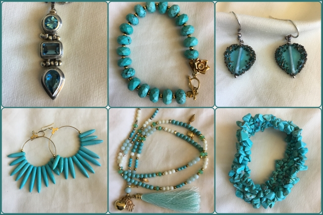 Accessories in turquoise