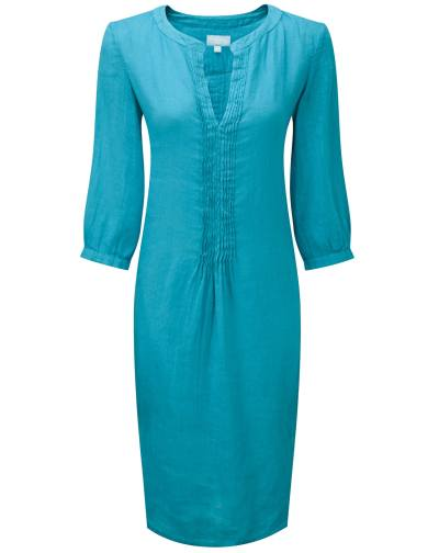 Turquoise washed linen tunic by Pure Collection