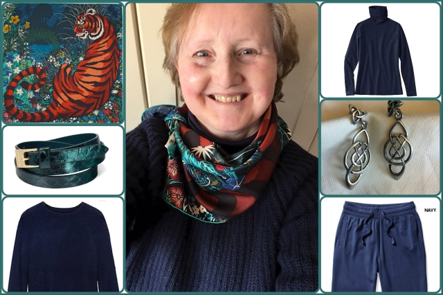 Outfit of the day 26/02/18 with Hermès' Tyger, Tyger scarf