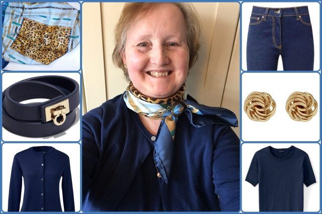 Outfit of the day 12/02/18 with Cornelia James scarf